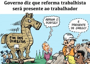 Reforma trabalhista-charge